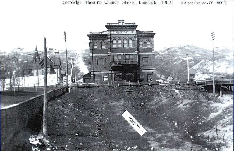 The new Kerredge Theatre in 1902 (Courtesy of the City of Hancock)